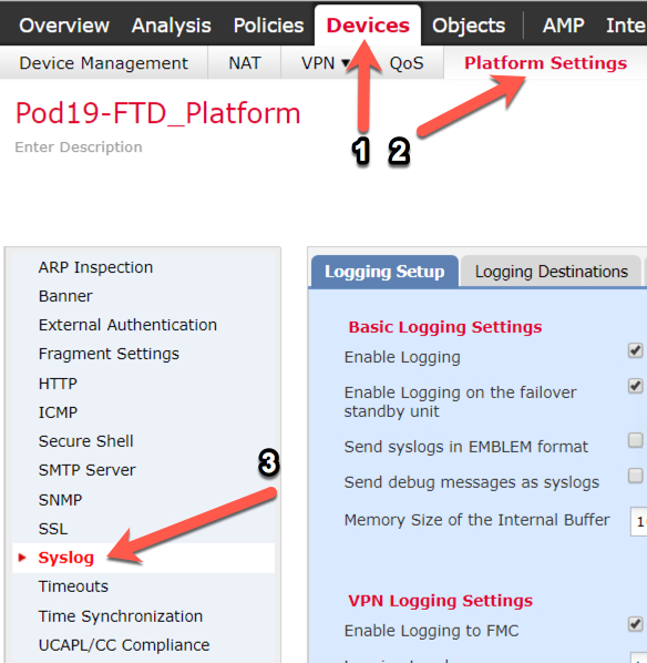 Cisco Firepower/FTD: How to see Cisco FTD Lina events | Todd
